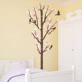 Cherry Blossom Measurement Tree Bubblegum Wall Decal Wall Decal