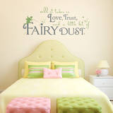 Fairy Dust Quote Olive Wall Decal Decalques de parede