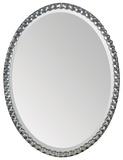 Rhiannon Crystal Silver Plate Oval Mirror Wall Mirror