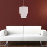 Modern Chandelier White Wall Decal Decalques de parede