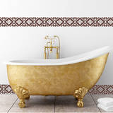Tiled Border Brown Wall Decal Wall Decal