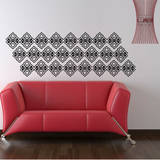 Powder Border Black Wall Decal Wall Decal
