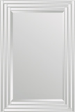 Brynn Step Frame All Glass Rectangular Mirror Wall Mirror by  Jonathan Wilner/Paul De Bellefeuille