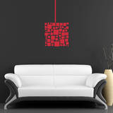 Abstract Square Red Wall Decal Decalques de parede