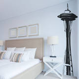 Space Needle Black Wall Decal Wall Decal