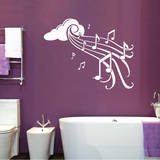 Notes in Flight White Wall Decal Adesivo de parede