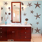 Seashells by the Seashore Brown Wall Decal Wall Decal