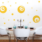 Supersized Circles Yellow Wall Decal Wall Decal