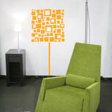 Square Lamp Yellow Wall Decal Decalques de parede