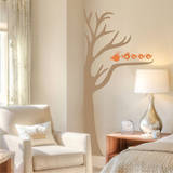 Half Tree & Birds Persimmon Wall Decal Wall Decal
