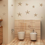 Stunning Starfish, Large Light Brown Wall Decal Wall Decal
