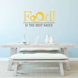 Food is the Best Sauce Yellow Wall Decal Adesivo de parede