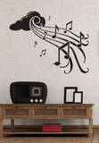 Notes in Flight Black Wall Decal Adesivo de parede