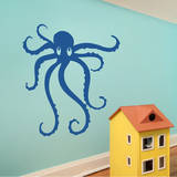 Octopus Blue Wall Decal Wall Decal