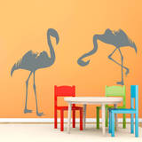 Flamingos Grey Wall Decal Wall Decal