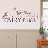 Fairy Dust Quote Brown Wall Decal Wall Decal