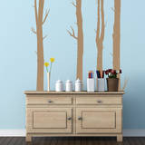 Woodland Trees Light Brown Wall Decal Wall Decal