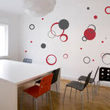 Circle Daze Red Wall Decal Wall Decal