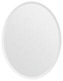 Zsa Zsa Beveled Edge All Glass Oval Mirror Wall Mirror
