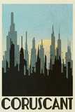 Coruscant Retro Travel Poster Prints