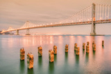 Night Glow at Bay Bridge Photographic Print by Vincent James