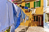Wash Day in Burano Photographic Print by Steven Boone