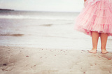 Girl in Tulle At Beach Edge 4 Photographic Print by Susannah Tucker