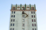 Fire Escape of An Abandoned 1920s Art Deco City Building Photographic Print by Jena Ardell