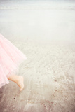 Girl in Tulle At Beach Edge 6 Photographic Print by Susannah Tucker