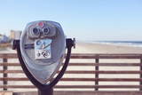 Beach Binoculars On a Sunny Pier Near the Ocean Photographic Print by Jena Ardell