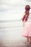 Girl in Tulle At Beach Edge 5 Photographic Print by Susannah Tucker