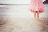 Girl in Tulle At Beach Edge 3 Photographic Print by Susannah Tucker