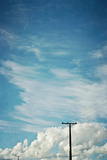 Blue Sky And Clouds with Power Lines Photographic Print by Susannah Tucker