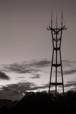 Sutro Tower in Black and White Photographic Print by Vincent James