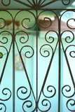 Heart Shapes of a Vintage Wrought Iron Gate Stampa fotografica di Jena Ardell