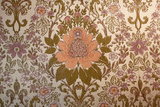 Vintage Wallpaper Interior with a Regal Floral Design Photographic Print by Jena Ardell