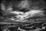 Winding Stone Path Through Moor Fotografisk trykk av Rory Garforth