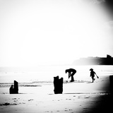 Childplay On Beach Photographic Print by Rory Garforth