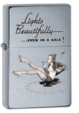 Lights Beautifully Vintage Brushed Chrome Zippo Lighter Lighter