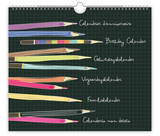 Au Contraire - Pencils - Perpetual Birthday Calendar Calendars