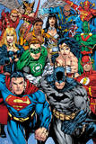 DC Comics - Collage Kunstdrucke