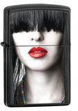 Red Lipstick Ebony Zippo Lighter Lighter