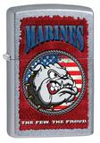 Marines USMC Bulldog Street Chrome Zippo Lighter Lighter
