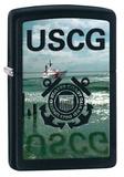 U.S. Coast Guard USCG Water Black Matte Zippo Lighter Lighter