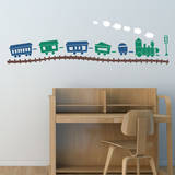 Choo Choo Train Set Gentian Wall Decal Wall Decal