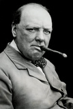 Winston Churchill Smoking Cigar Poster Posters