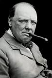 Winston Churchill Smoking Cigar Poster Photo