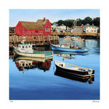 Rockport Harbor Giclee Print by Tom Swimm