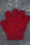 Grubby Red Woollen Childs Glove Lying On Rusty Metal Sheet Photographic Print by Den Reader