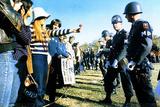 Anti-Vietnam Demonstration (Girl Giving Police Flower) Archival Photo